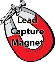 Lead capture magnet illustration
