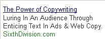 power of copyrighting google screengrab