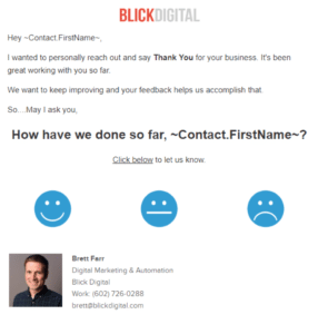 testimonial email example